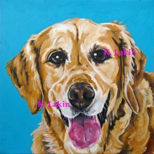 """Nanea 2"" 2015, 40x40"", Acrylic on canvas"